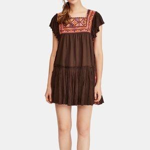 NWT Free People Day Glow Mini Dress